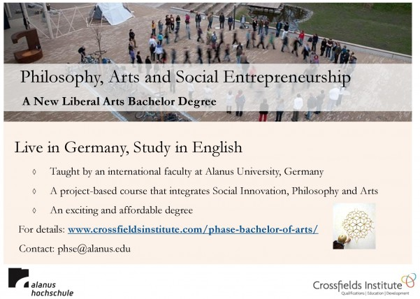 Philosophy, Arts and Social Entrepreneurship