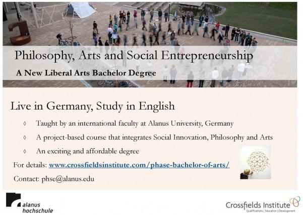 Philosophy, Arts and Social Entrepreneurship