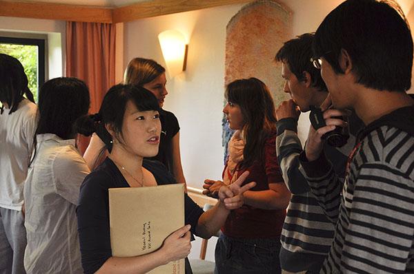 Students Receiving Certificates